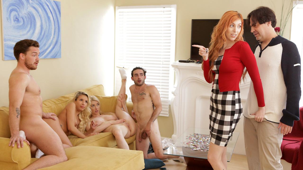 Party gangbang porn