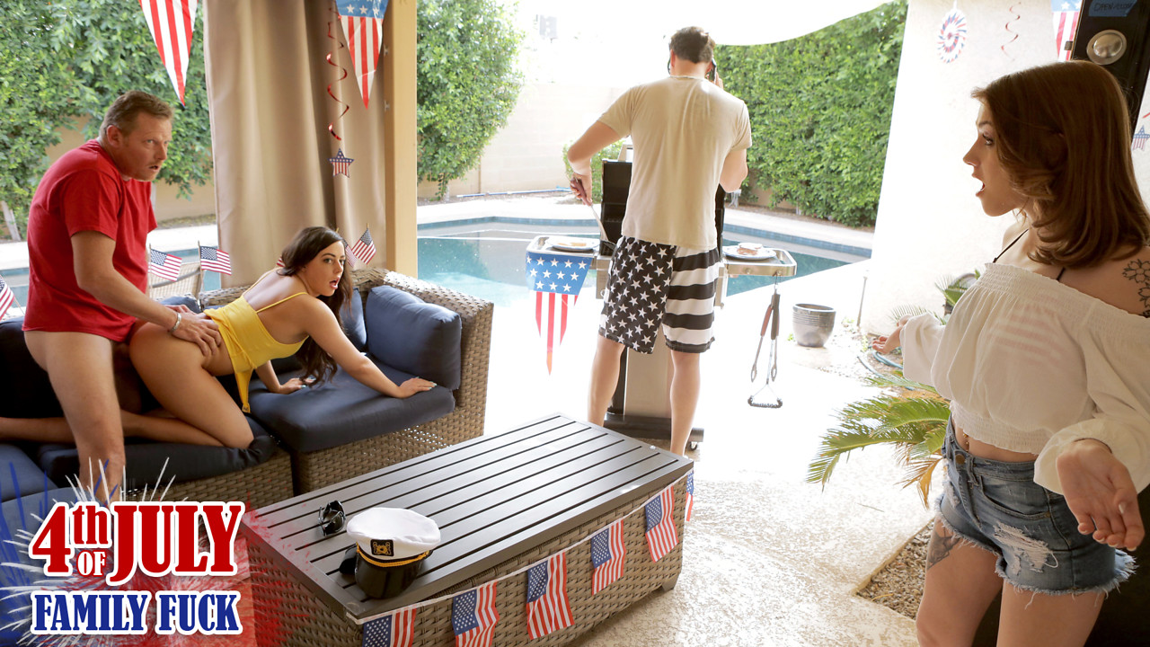 MyFamilyPies – Fourth July Family Fuck – Rosalyn Sphinx , Whitney Wright