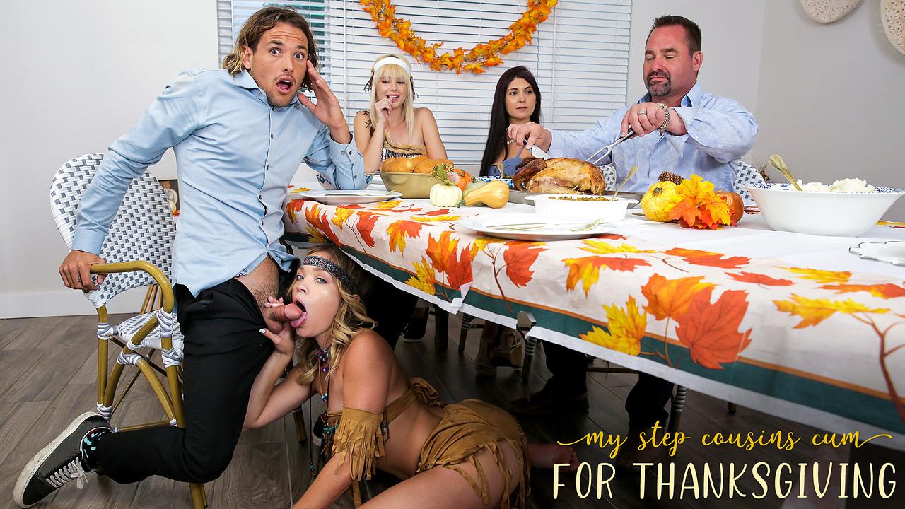 My Step Cousins Cum For Thanksgiving