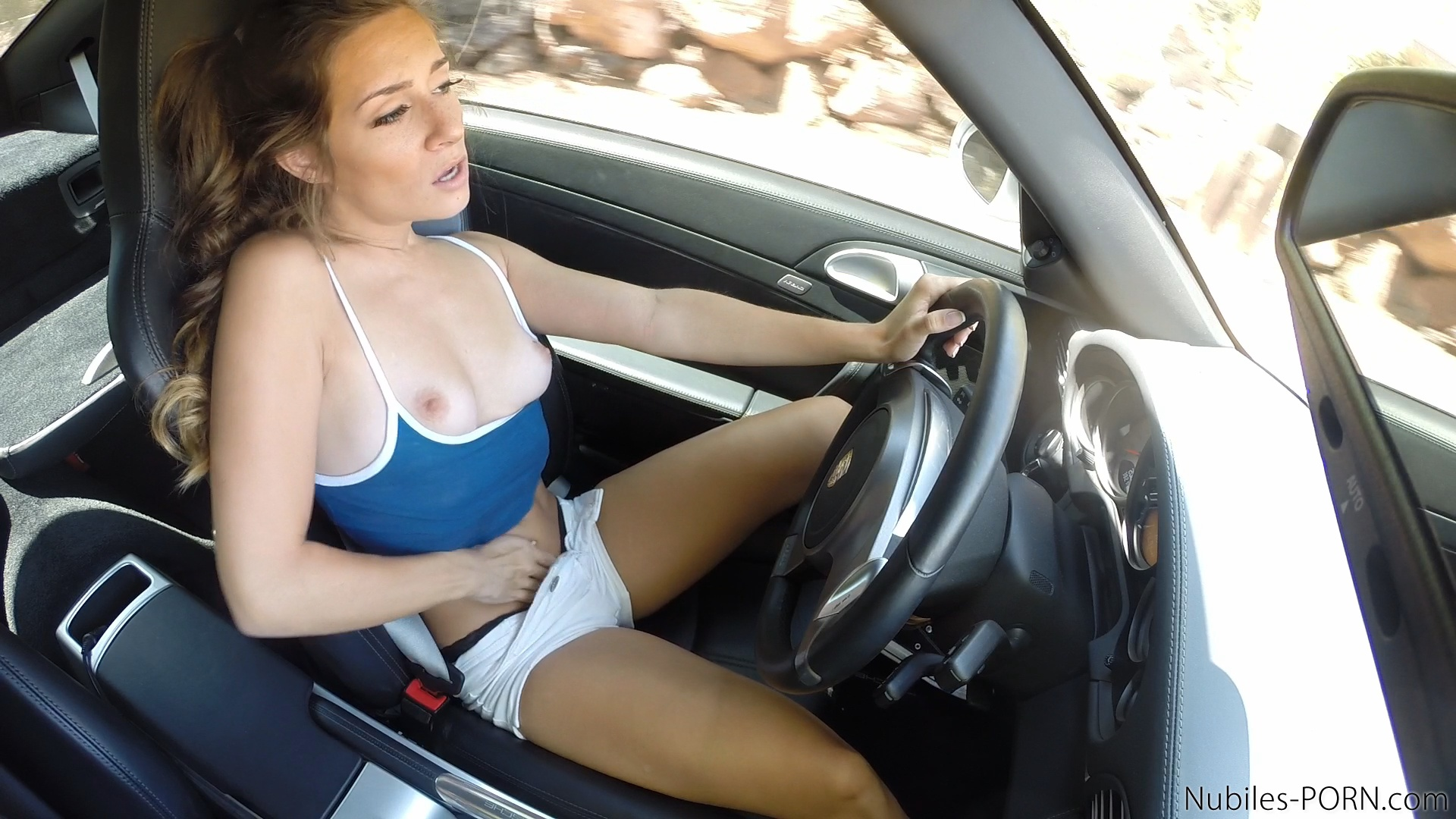 Famous star in car porn